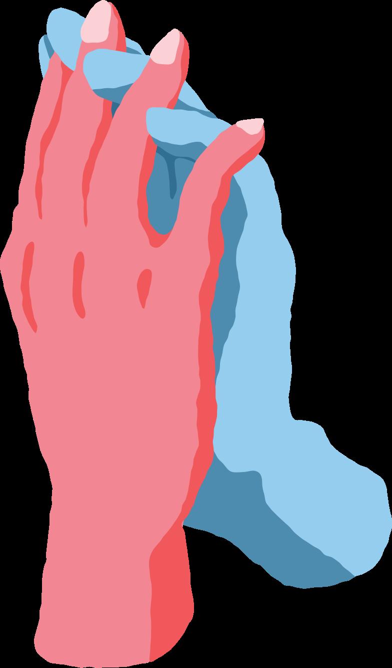 hands holding Clipart illustration in PNG, SVG