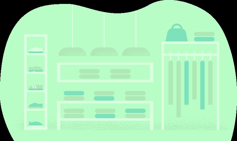 clothing-shop Clipart illustration in PNG, SVG