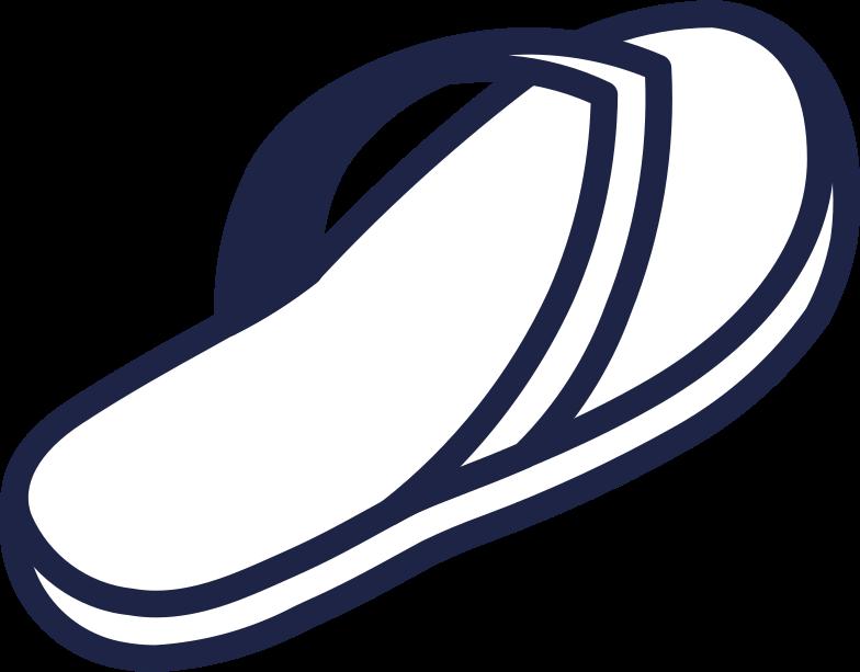 flipflops 2 line Clipart illustration in PNG, SVG
