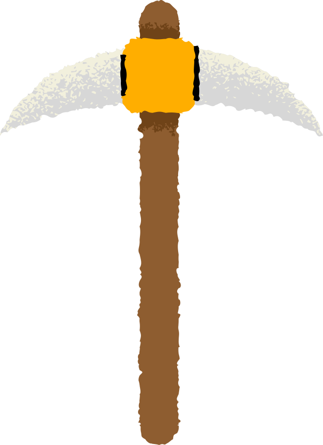 pickaxe Clipart illustration in PNG, SVG