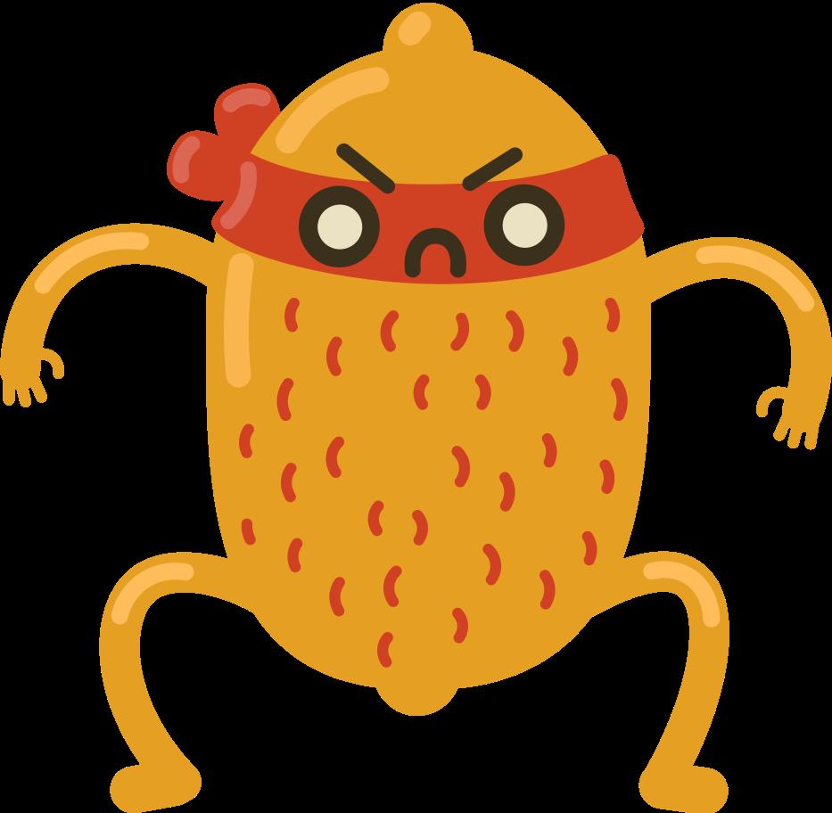 fury fruit Clipart illustration in PNG, SVG
