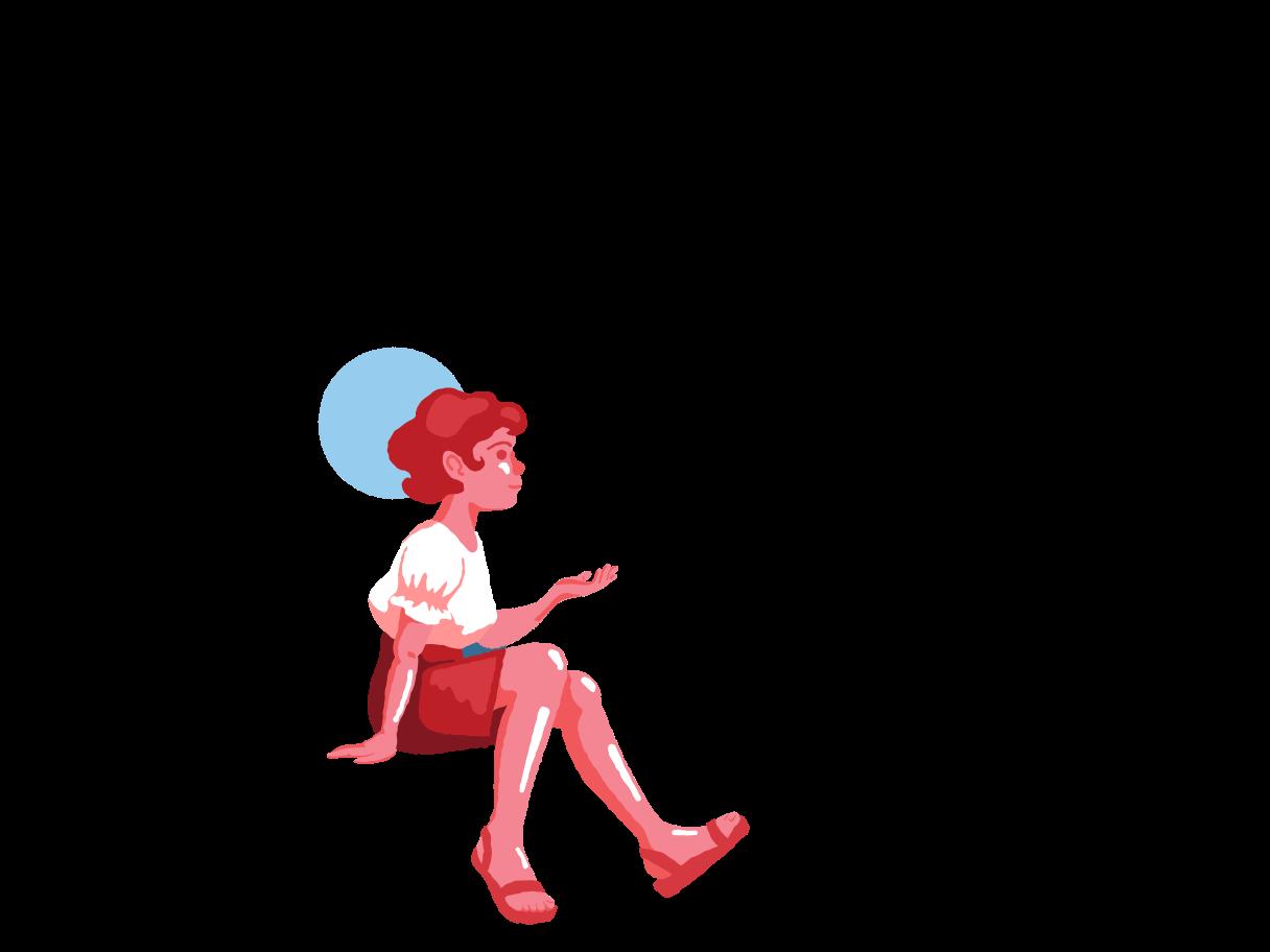 Träume von einem urlaub Clipart-Grafik als PNG, SVG