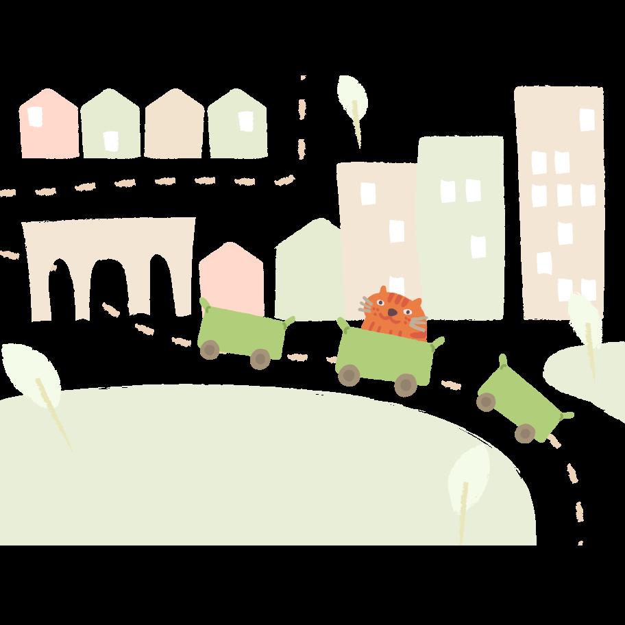 Public transport Clipart illustration in PNG, SVG