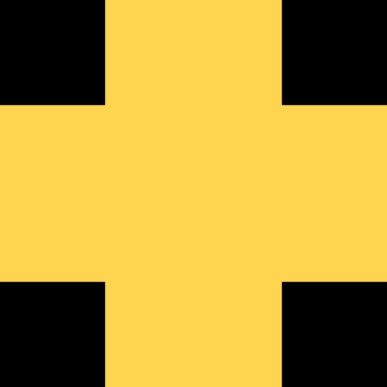Иллюстрация Крест желтый в стиле  в PNG и SVG | Icons8 Иллюстрации