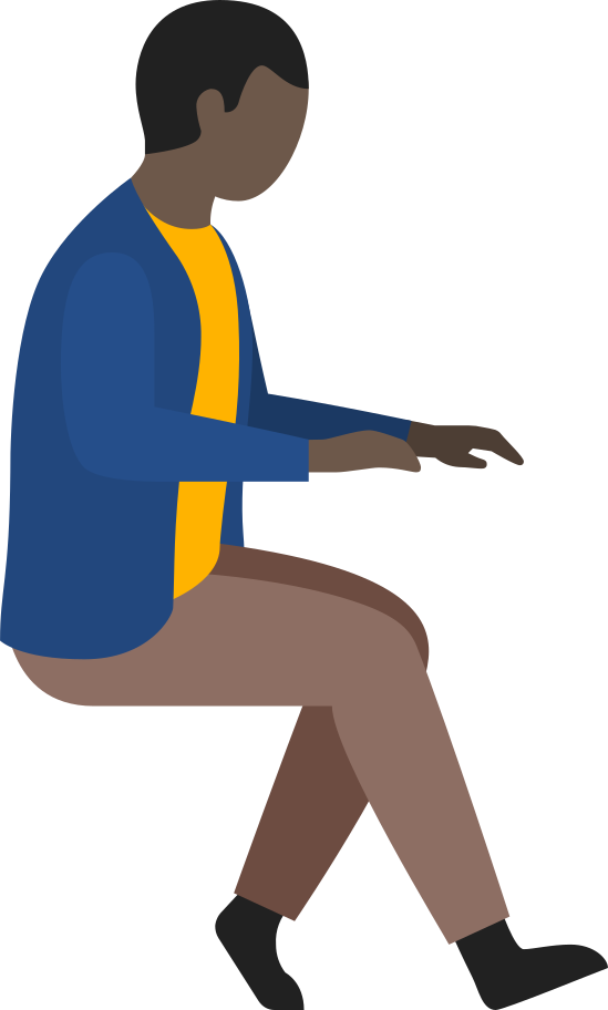 man office worker Clipart illustration in PNG, SVG