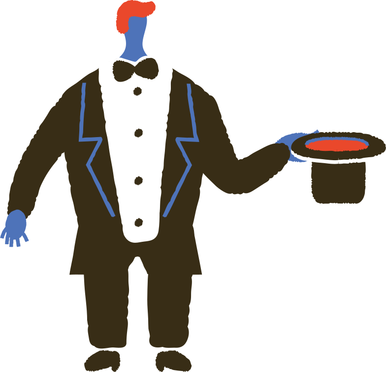 magician with hat Clipart illustration in PNG, SVG