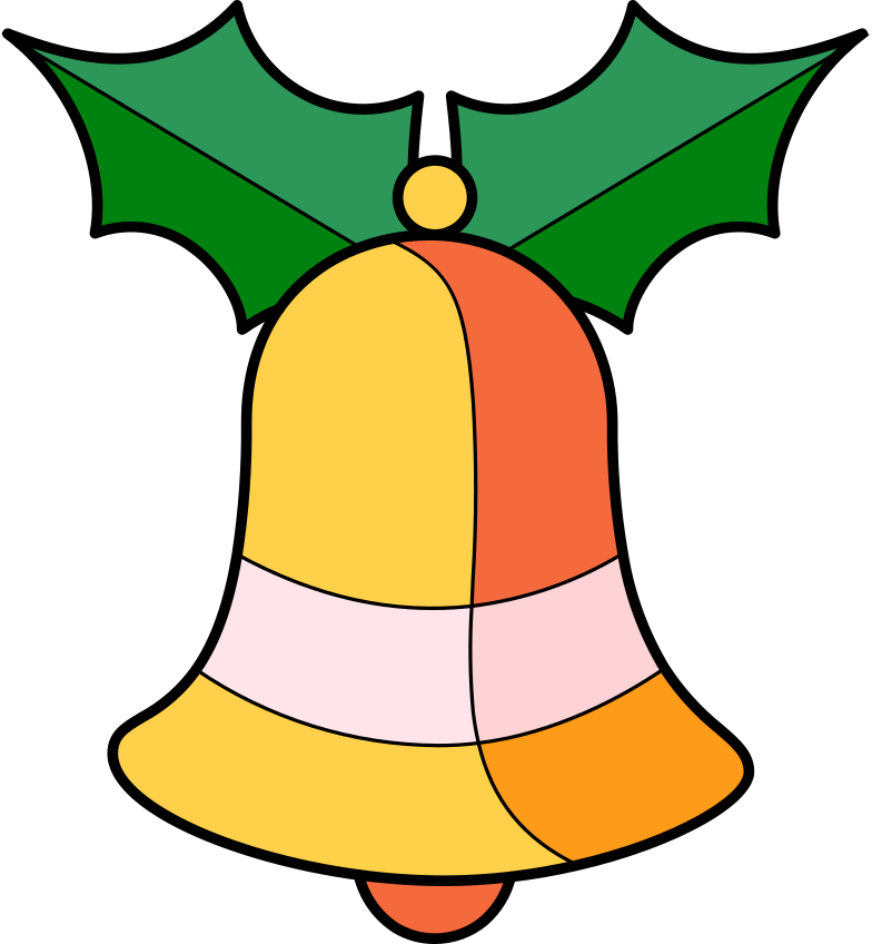 xmas bell Clipart illustration in PNG, SVG