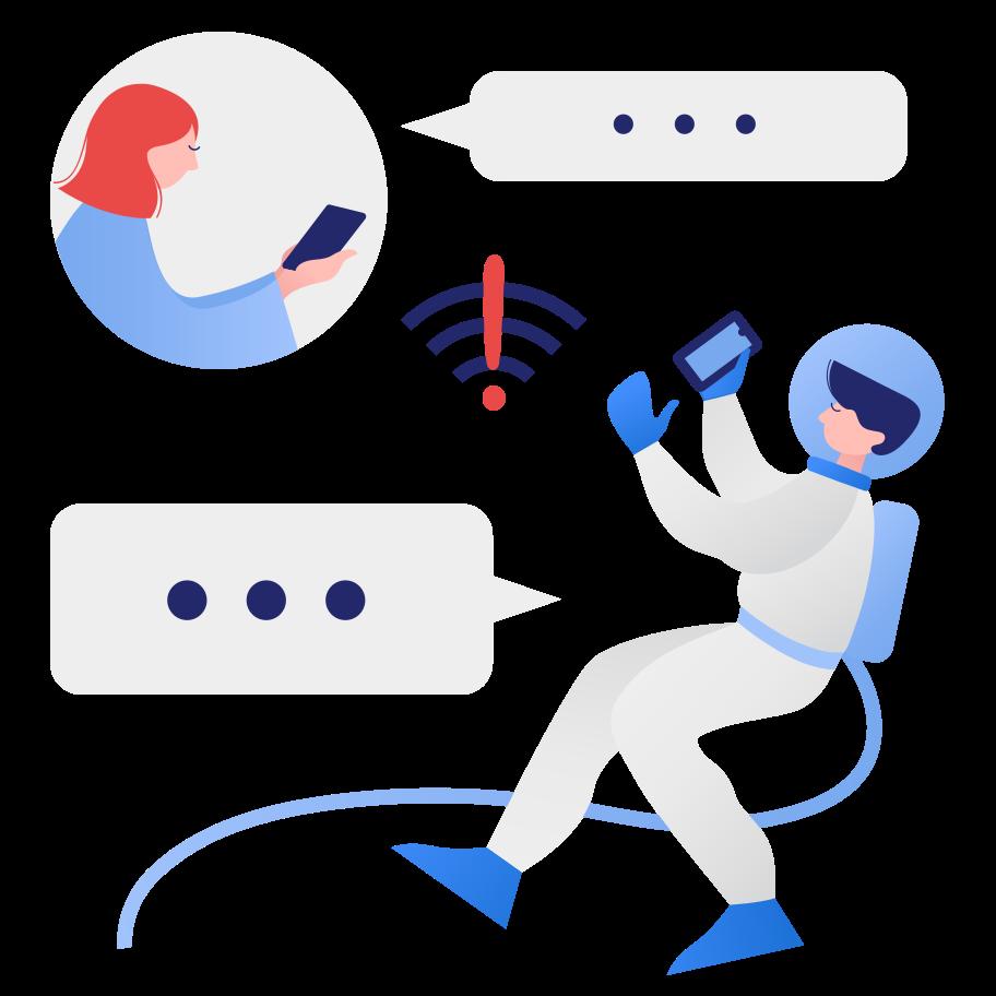 Ilustración de clipart de Sin conexión en PNG, SVG