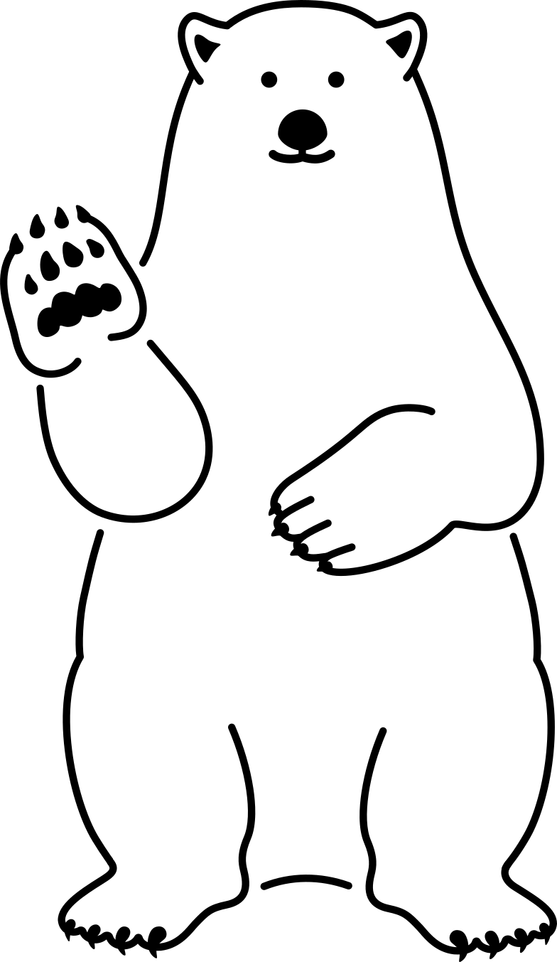 white bear Clipart illustration in PNG, SVG