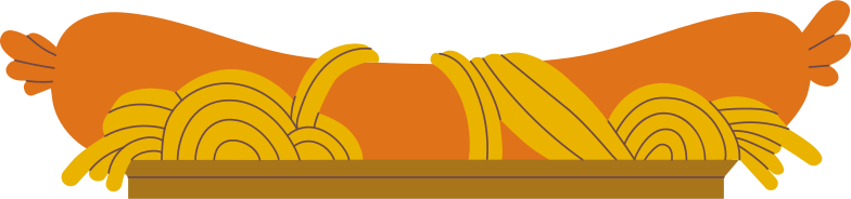 sausage and spaghetti Clipart illustration in PNG, SVG