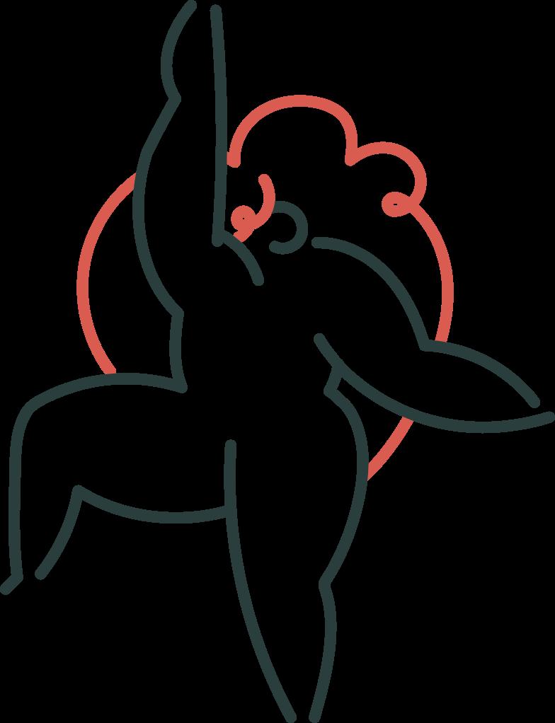 upgrade  girl Clipart illustration in PNG, SVG