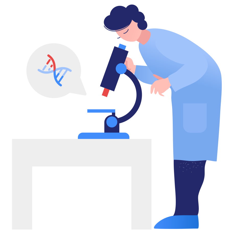 DNA research Clipart illustration in PNG, SVG
