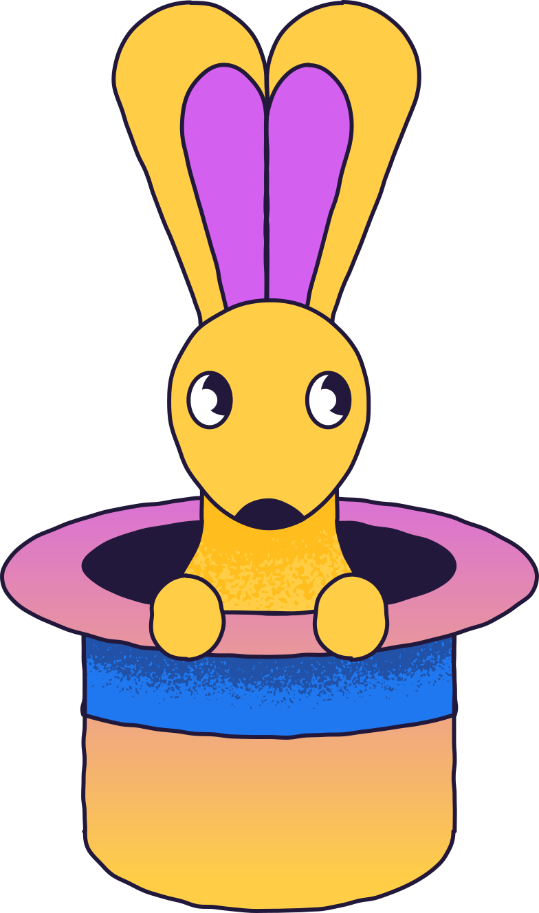 magic rabbit Clipart illustration in PNG, SVG