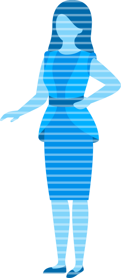 woman hologram projection Clipart illustration in PNG, SVG