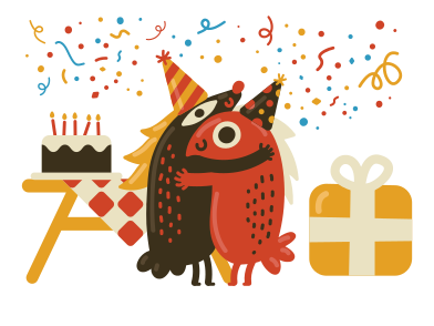 style Happy birthday party  images in PNG and SVG | Icons8 Illustrations