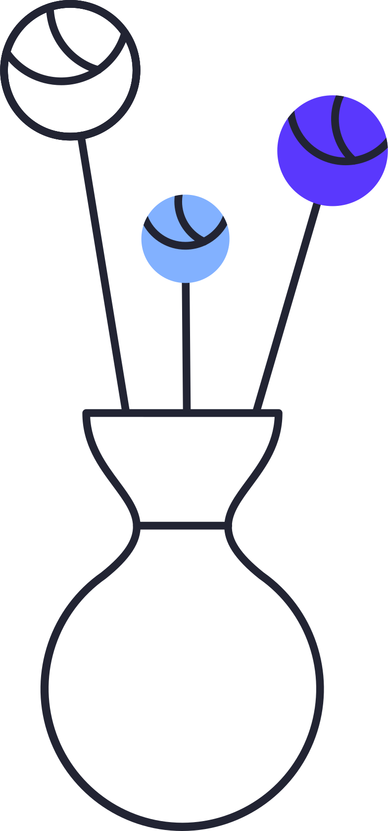 downloading  flowers in vase Clipart illustration in PNG, SVG