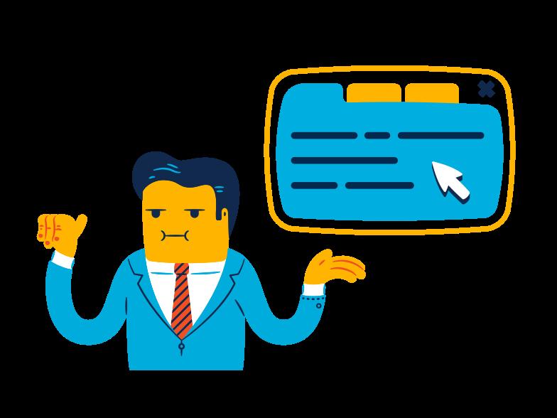Service presentation  Clipart illustration in PNG, SVG