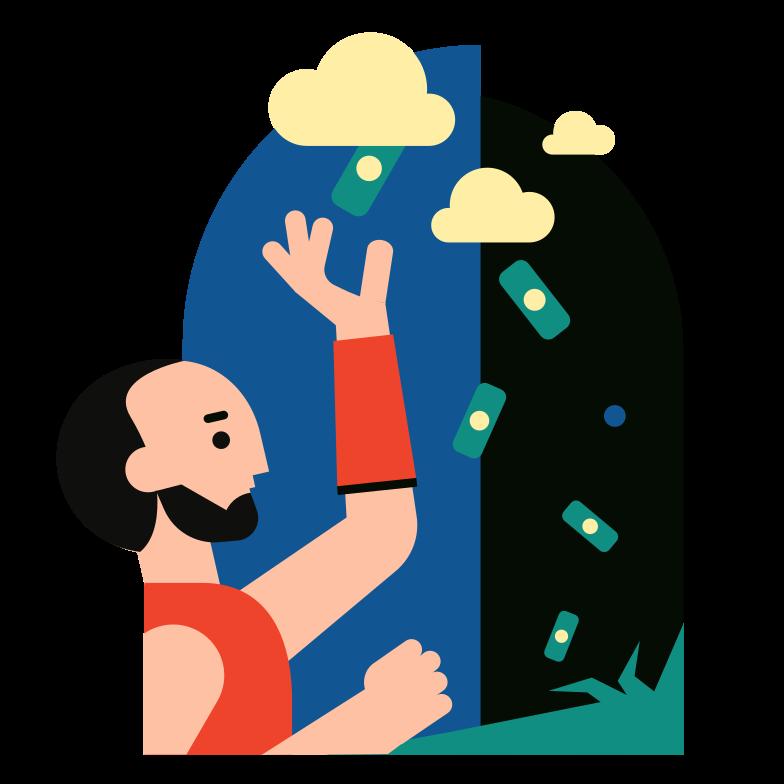 Imágenes vectoriales Lluvia de dinero en PNG y SVG estilo  | Ilustraciones Icons8