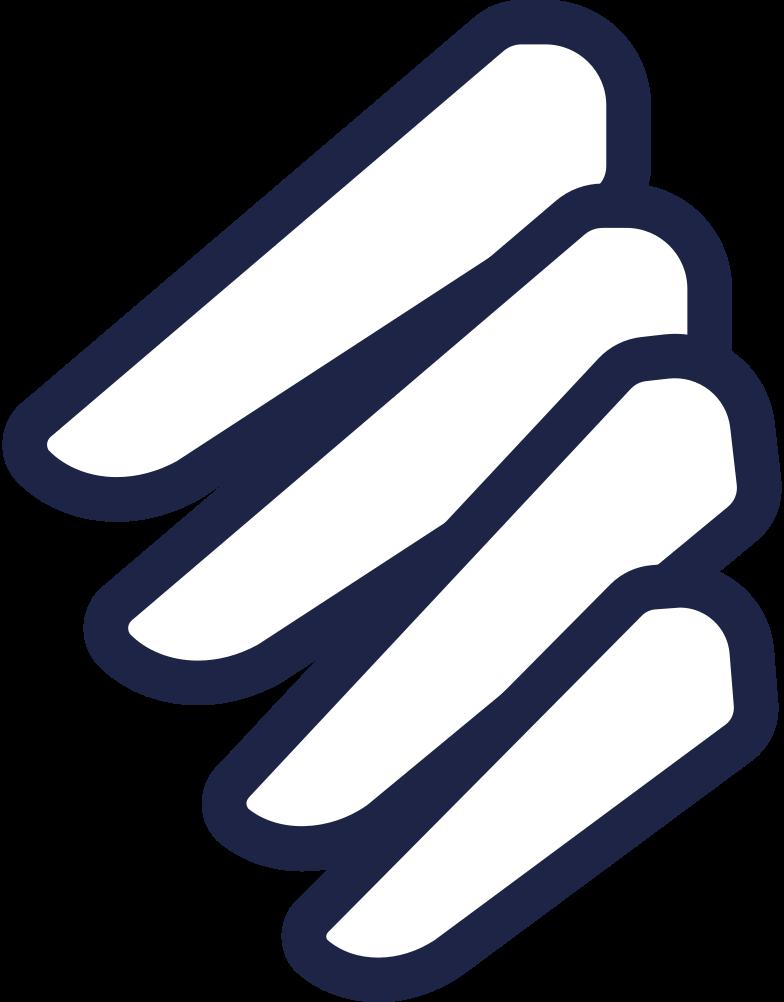 fingers holding 1 line Clipart illustration in PNG, SVG