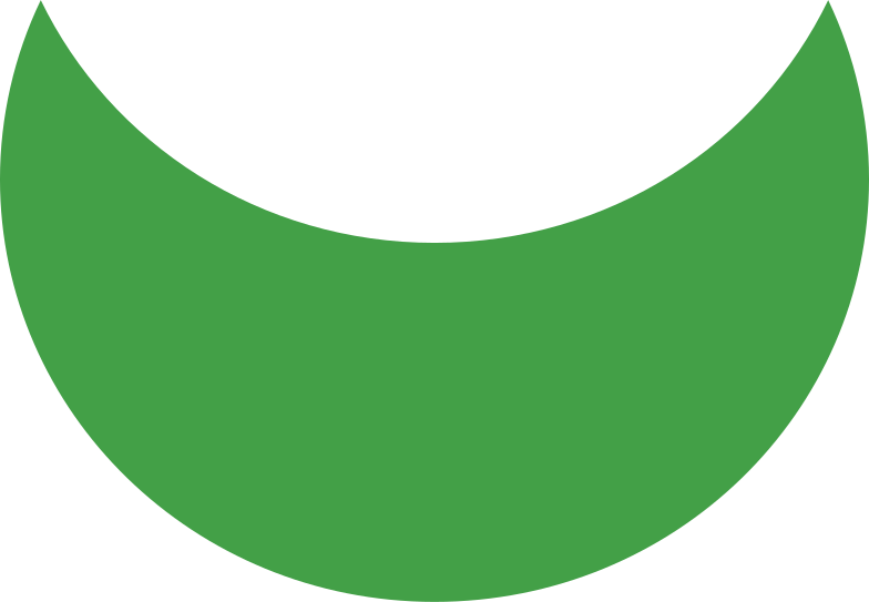 crescent green Clipart illustration in PNG, SVG