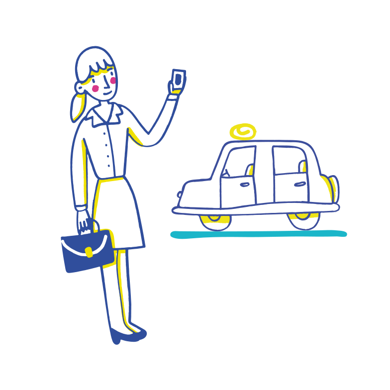 Calling a taxi Clipart illustration in PNG, SVG