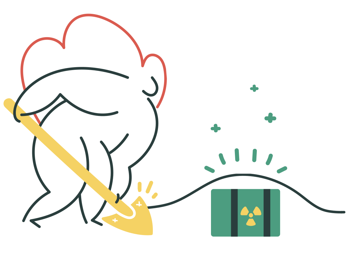 Radioactive waste disposal Clipart illustration in PNG, SVG