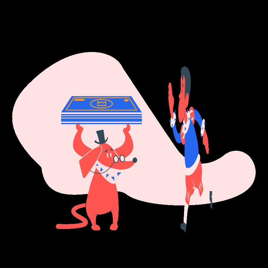Ilustração de clipart de Lucro do negócio em PNG e SVG
