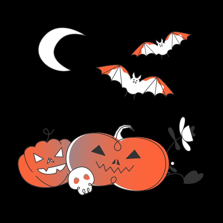 Halloween pumpkins Clipart illustration in PNG, SVG