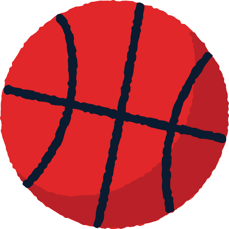 basketball-ball Clipart illustration in PNG, SVG