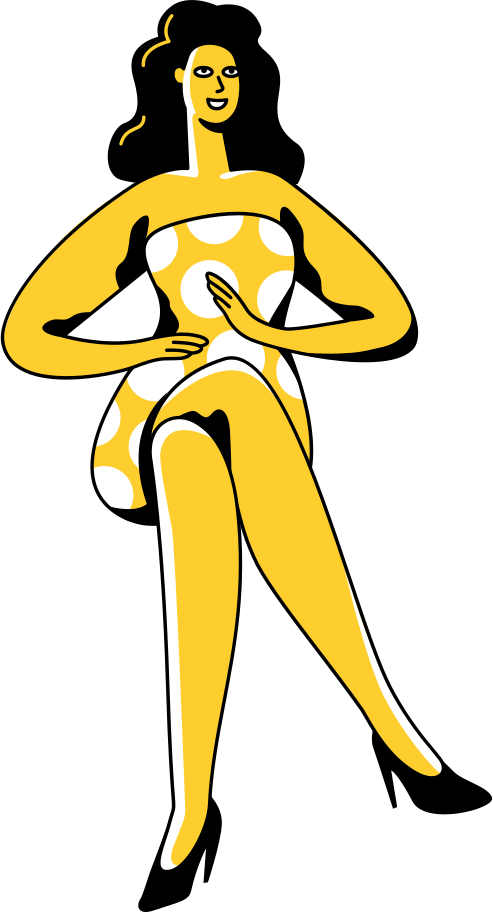 sitting woman Clipart illustration in PNG, SVG