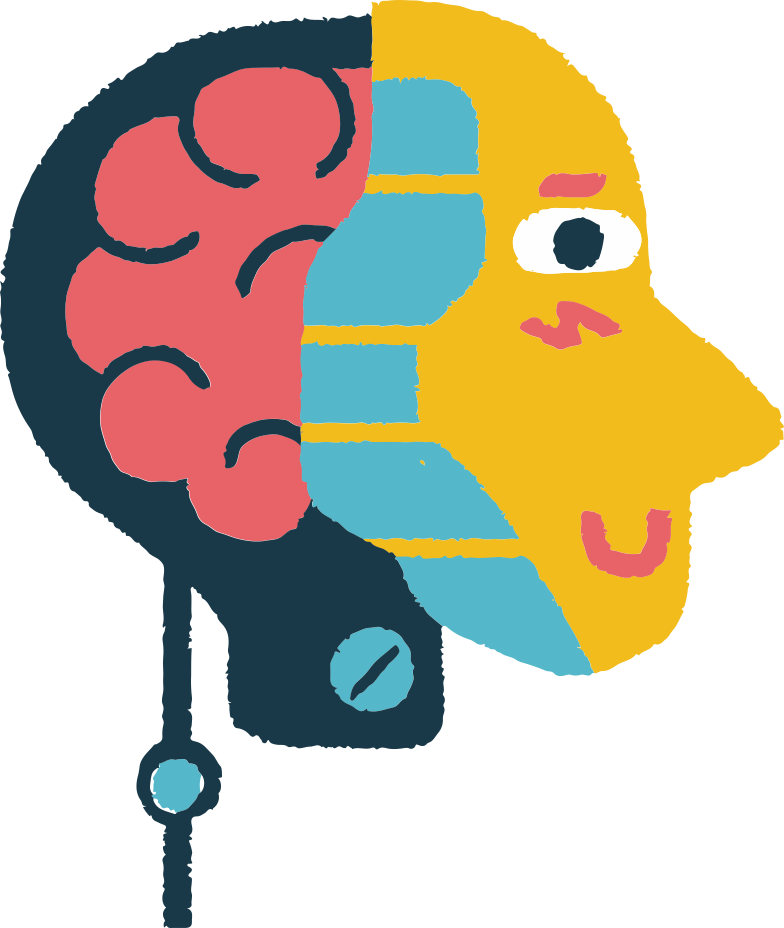 head with brain Clipart illustration in PNG, SVG