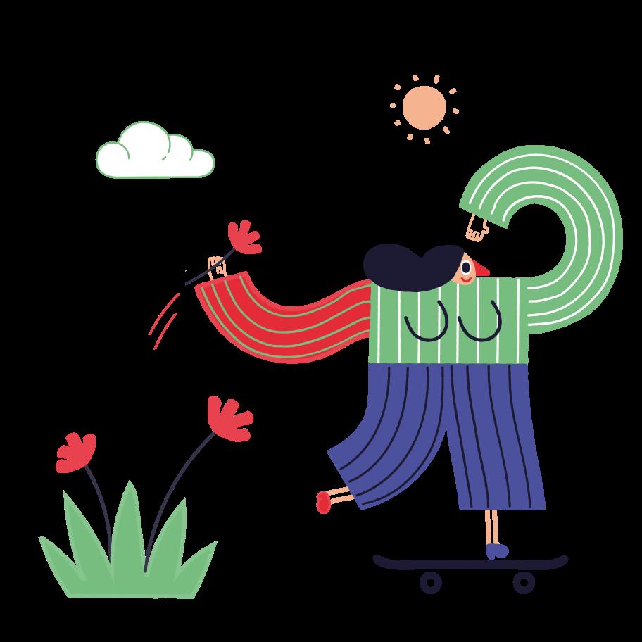 Skateboarder Clipart illustration in PNG, SVG