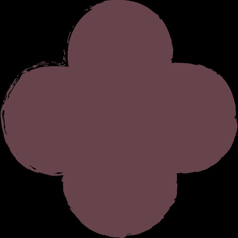 quatrefoil-brown Clipart illustration in PNG, SVG