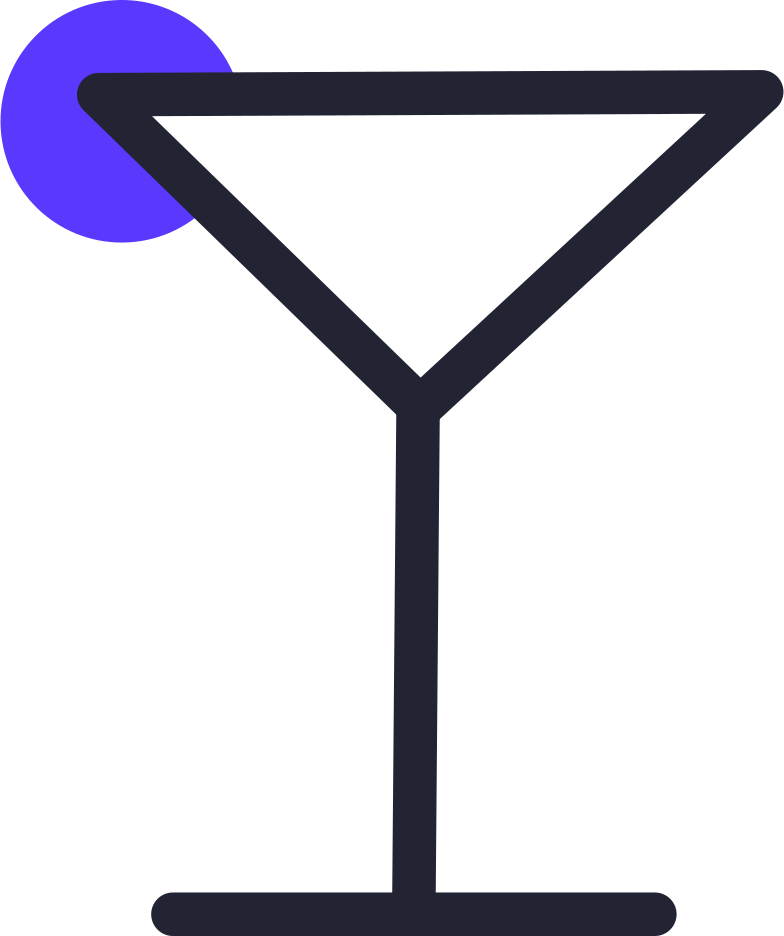 cocktail glass full Clipart illustration in PNG, SVG
