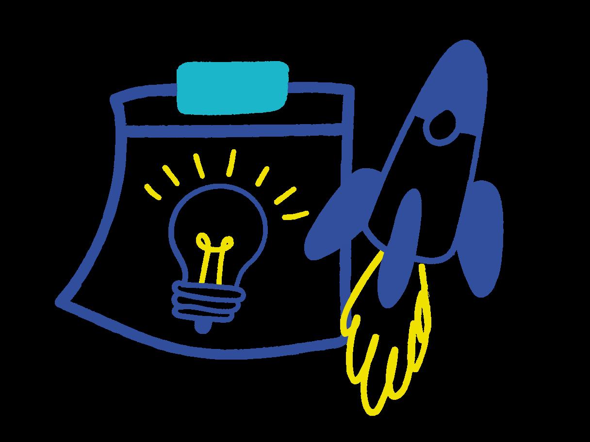 Idea for business start up Clipart illustration in PNG, SVG