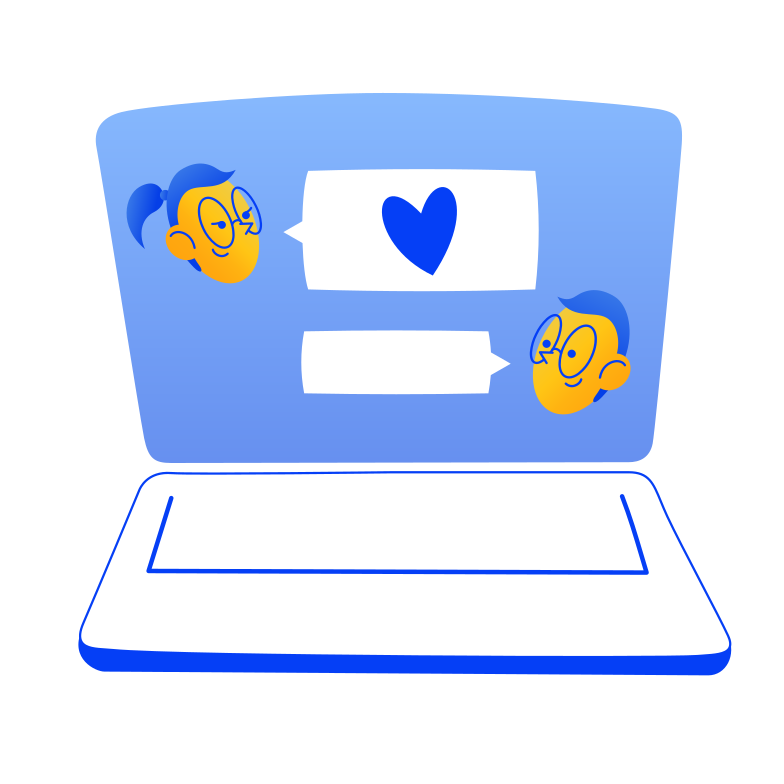 Love chat Clipart illustration in PNG, SVG