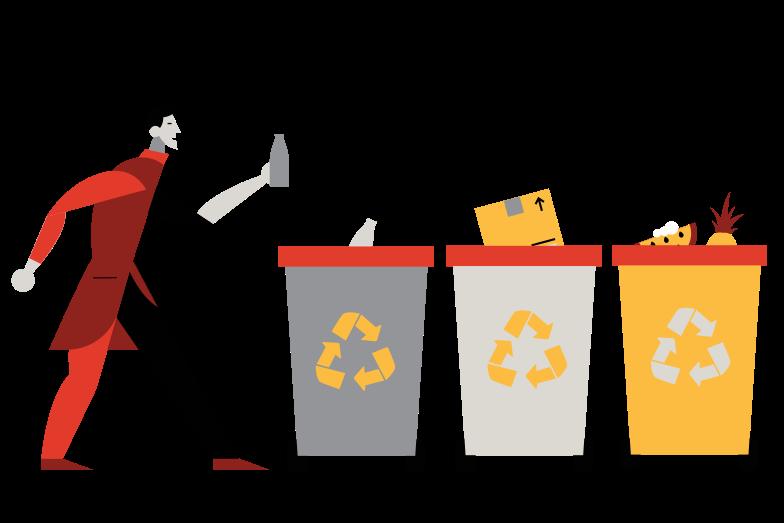 Proper disposal Clipart illustration in PNG, SVG