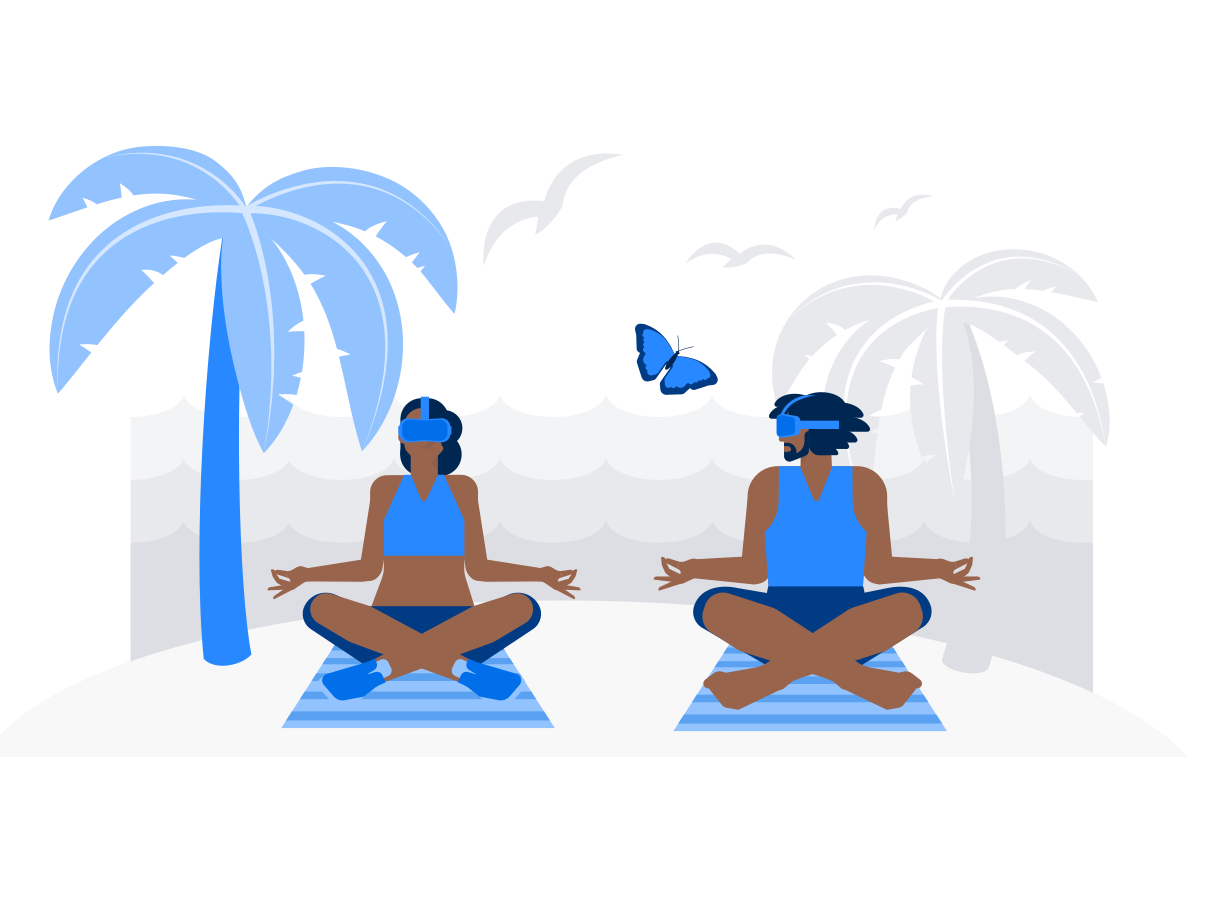 VR Yoga Clipart-Grafik als PNG, SVG