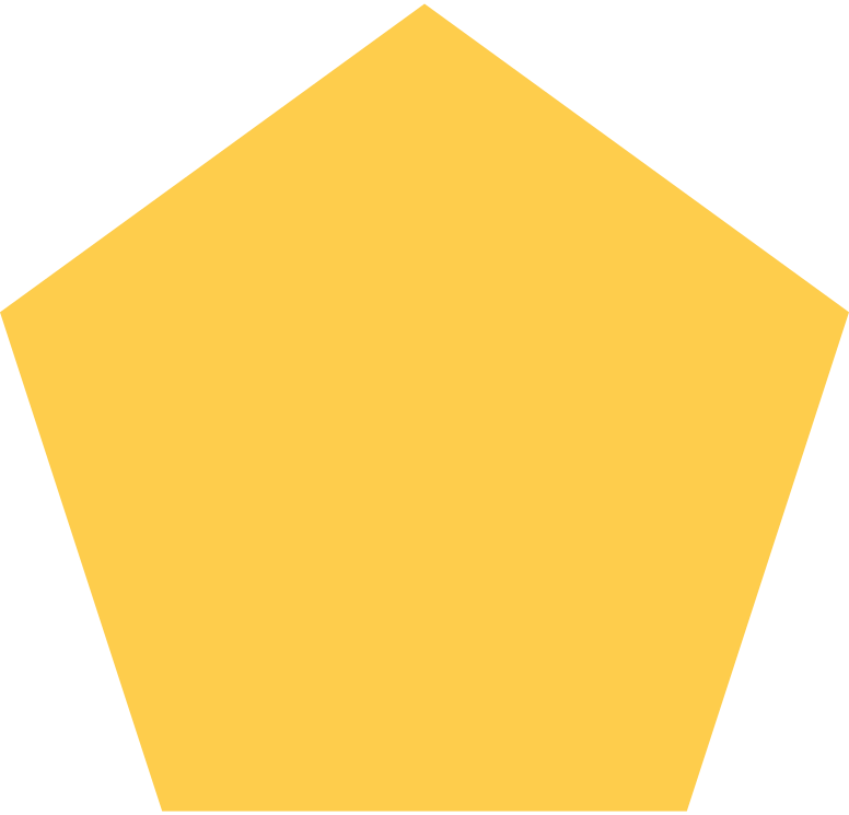 pentagon-yellow Clipart illustration in PNG, SVG