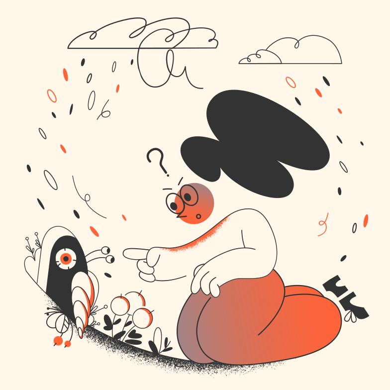 Curiosity Clipart illustration in PNG, SVG