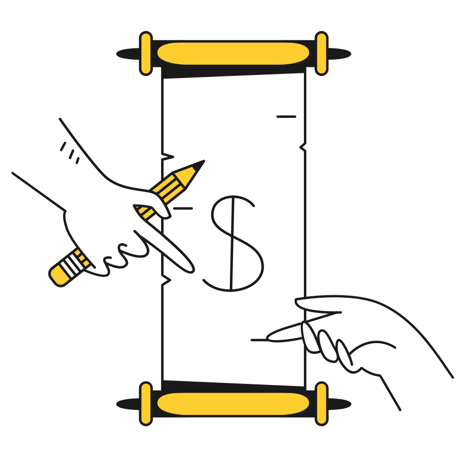 Signing contract Clipart illustration in PNG, SVG
