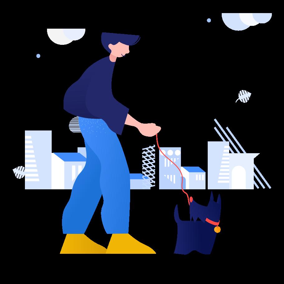 Vektorgrafik im  Stil Mit hund spazieren gehen als PNG und SVG | Icons8 Grafiken