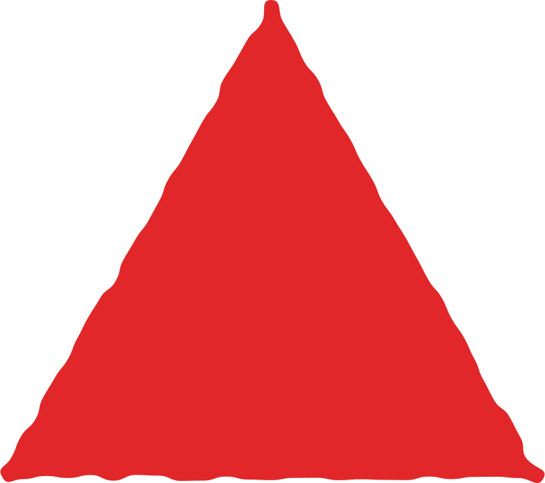 Illustration clipart Triangle rouge aux formats PNG, SVG