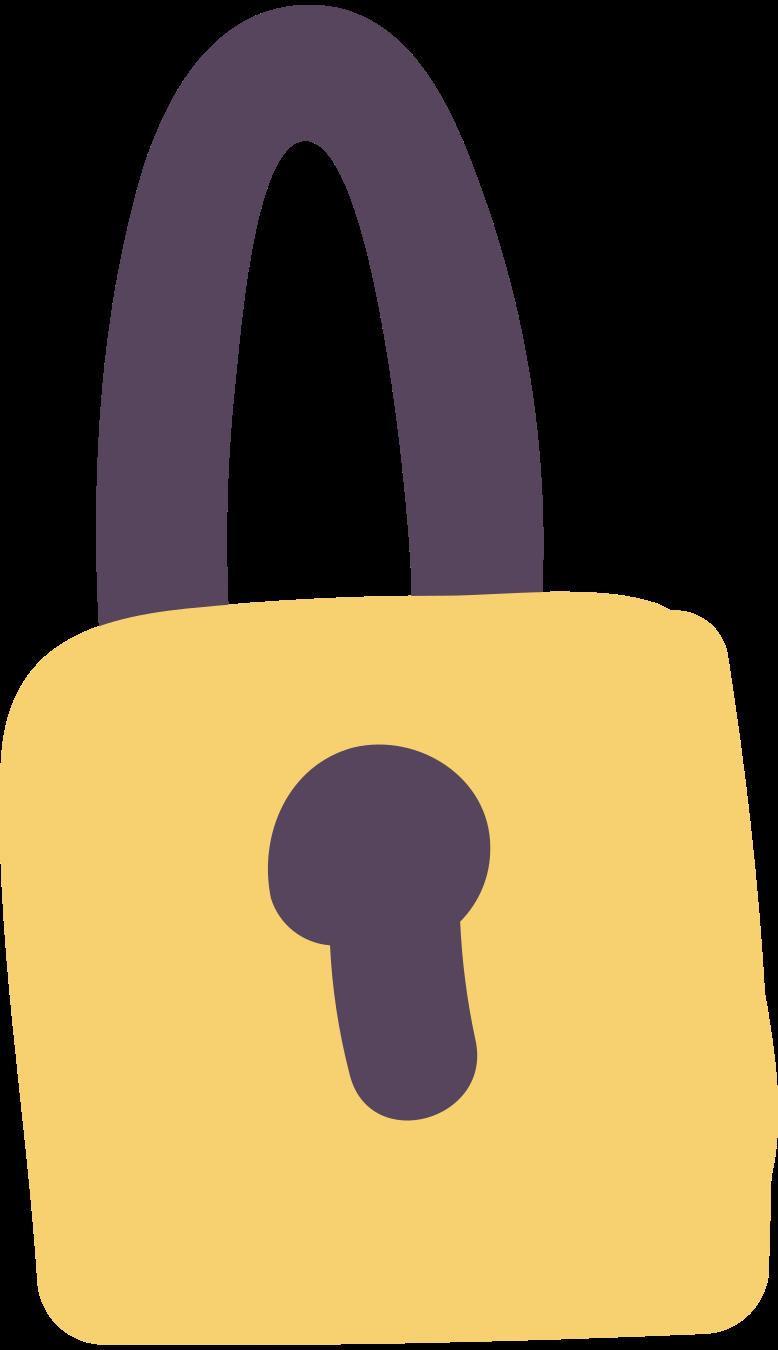 padlock Clipart illustration in PNG, SVG