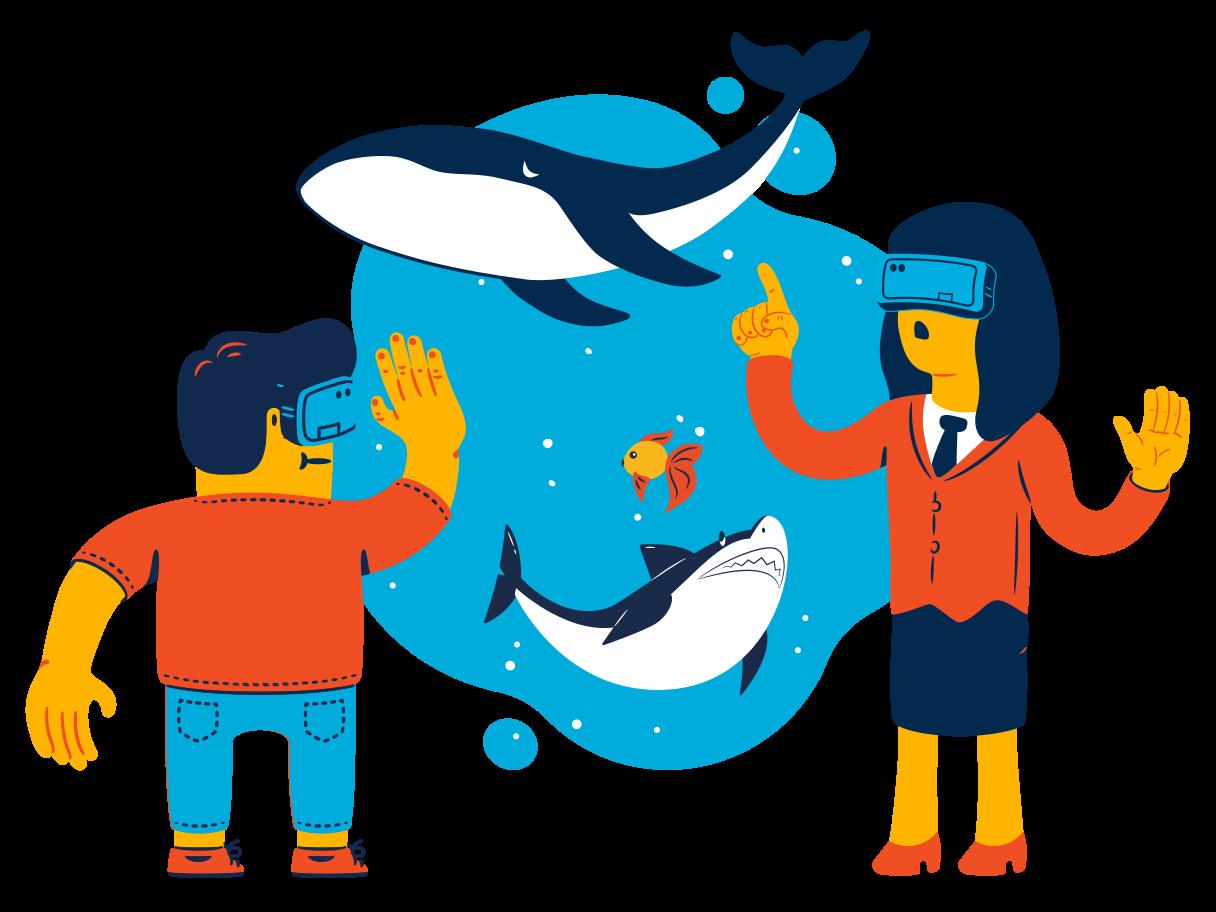 VR ocean Clipart illustration in PNG, SVG