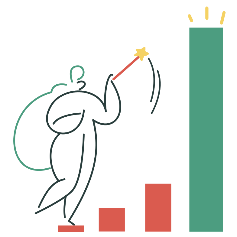 Growth rates Clipart illustration in PNG, SVG