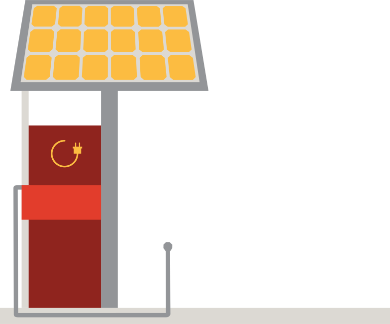 electric filling station Clipart illustration in PNG, SVG