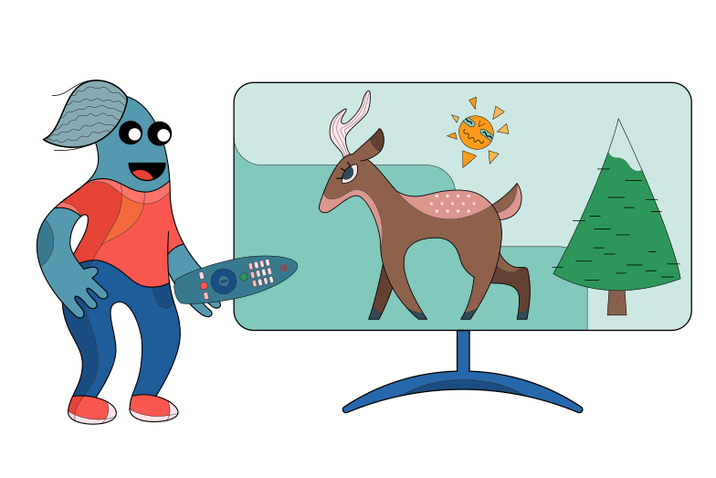 Wildlife channel Clipart illustration in PNG, SVG