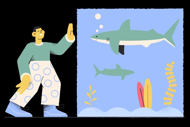 Oceanarium Clipart illustration in PNG, SVG