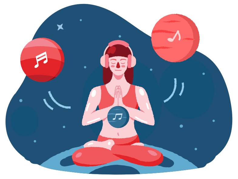 Chill music Clipart illustration in PNG, SVG